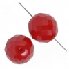 Fire polished Beads 18mm Red Opal